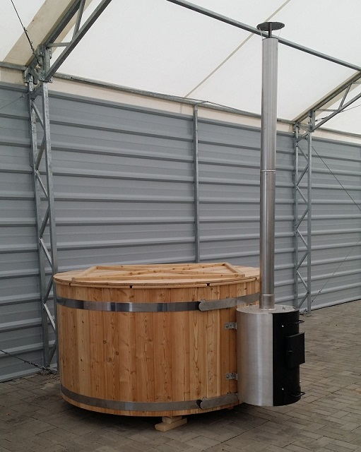 Ekosolis hot tub with outside heater_ barrel sauna jakuzi